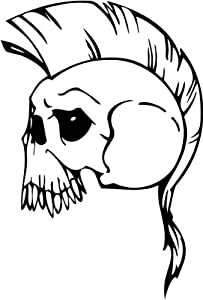 "Skull Sticker 67 - 12"" inch - White"