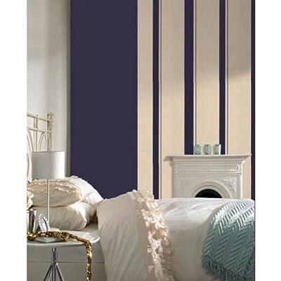 Barley Striped Wallpaper In Purple Full Roll by wallpaper heaven