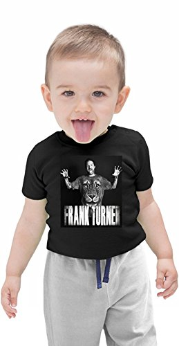Frank Turner Looks Like A Lion Organic Baby T-shirt Stylish Organic Baby T-shirt Fashion Fit Kids Printed Clothes by Genuine Fan Merchandise 6-12 Months