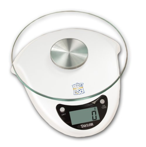 Taylor Biggest Loser 6.6 Pounds Kitchen Scale with Glass Platform