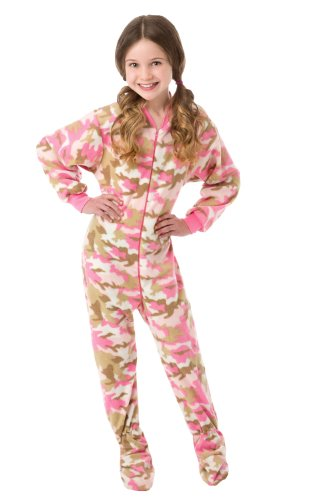 Big Feet Pjs Infant - Toddler Pink Camo (504) Fleece Footed Pajamas 12M - 4T (12M) front-305463