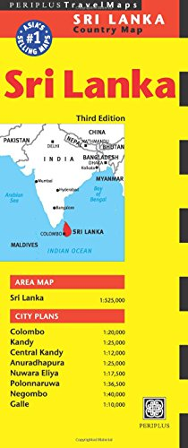 Sri Lanka Travel Map Third Edition (Periplus Travel Maps)