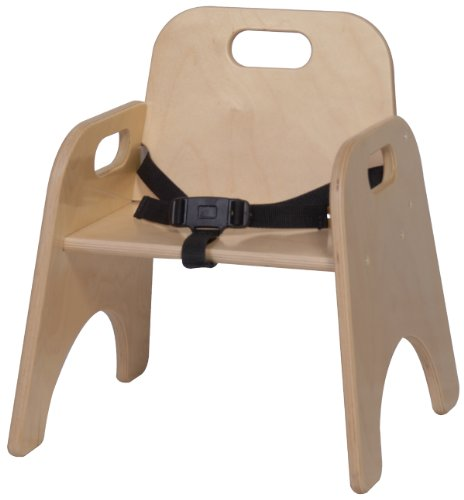Steffy Wood Products 9-Inch Toddler Chair with Strap - 1