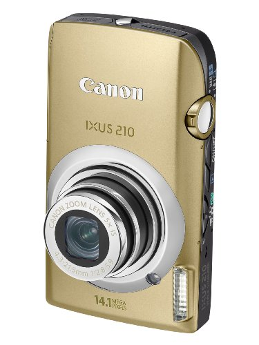 Canon IXUS 210 Digital Camera - Gold (14.1 MP, 5x Optical Zoom) 3.5 Inch PureColor Touch LCD