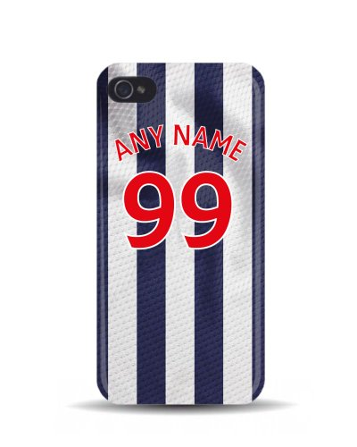 iPhone 5 'West Bromwich Albion 2013/2014 Season' Personalised Football Soccer Shirt 3D Phone Case Cover
