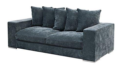 Amaris-Elements-Cooper-Modernes-3-Sitzer-Sofa-inklusive-5-Kissen-Couch-100-Mikrofaser-Samtoptik-blau-grau-3er-Couch-im-Landhausstil