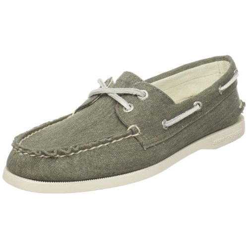Sperry Top-Sider Womens Authentic Original 2-Eye Casual Shoes (8.5, Olive Canvas)