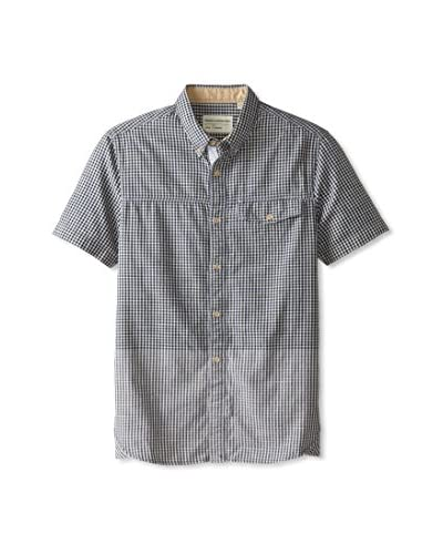 French Connection Men's Geebung Gingham Woven Shirt