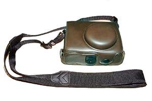 2 teilige Hartledertasche mit Stativ-Gewindebohrung für die Nikon P7000 kamera (Braun)