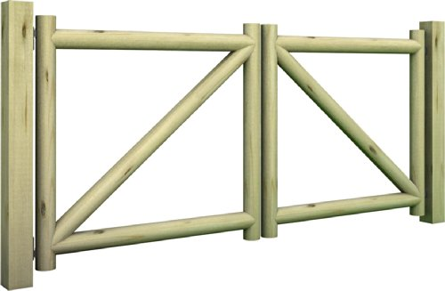 Non solo arredo cancello masino a due battenti in legno for Non solo arredo