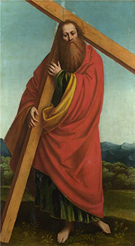 Oil Painting 'Gaudenzio Ferrari - Saint Andrew,1530-46', 24 x 44 inch / 61 x 111 cm , on High Definition