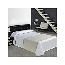 SABANALIA - Colcha de Pique Rombos (Disponible en varios tamaños) - Cama 135, Blanco
