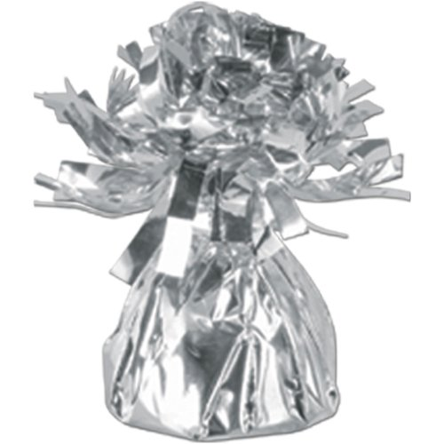 Silver Metallic Balloon Weight, 6oz 6 Per Pack