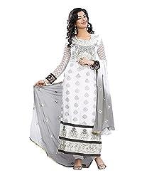 Maruti Suit Women's Viscose Suit Material (M1002, White, Free Size)