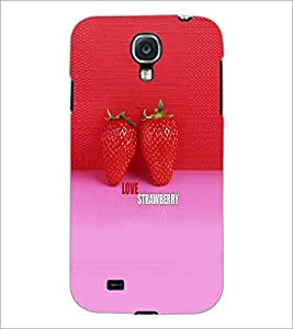 PrintDhaba Strawberries D-6000 Back Case Cover for SAMSUNG GALAXY S4 (Multi-Coloured)