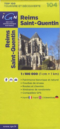 104- Reims/St-Quentin 1:100,000 (English, French and German Edition)