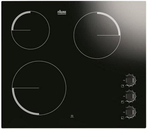 Faure FEV6130FBA plaque - plaques (Intégré, Electrique, Céramique, Noir, Rotatif, 220 - 240 V)