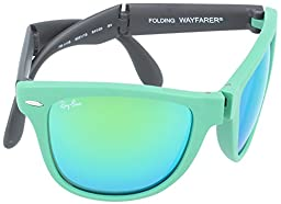 Ray-Ban Folding Wayfarer Sunglasses RB4105 602119-5420 - Matte Green Frame, RB4105-602119-54