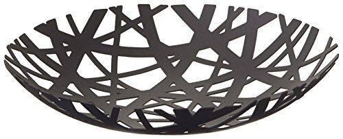 Decorative Centerpiece Bowl in Black - Powder-Coated Steel