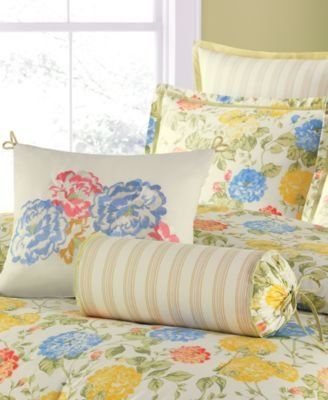 Martha Stewart Collection Wild Hydrangea 6 Piece King Comforter Set