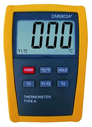 Digital 2 k-type Thermocouple Thermometer DM6802A+