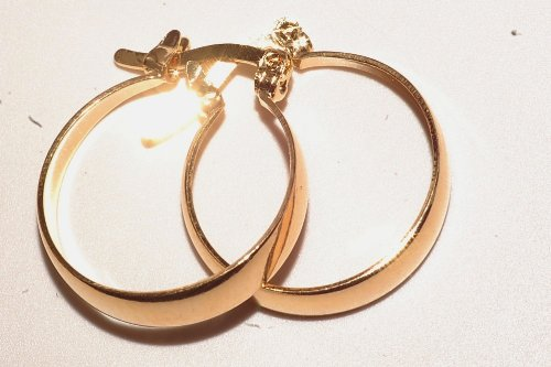 Gold Plated Babies/children Earring Brand New