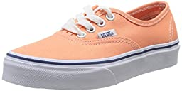 Vans Authentic Ox Youth US 2 Orange Sneakers