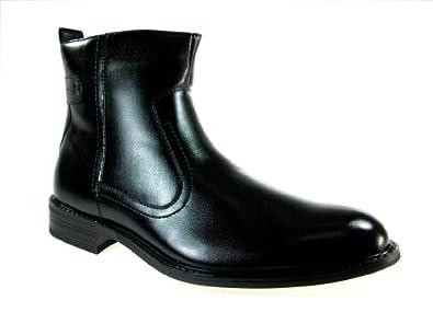 Delli Aldo Men's 606003 Distressed Riding Boot, Black, 7.5