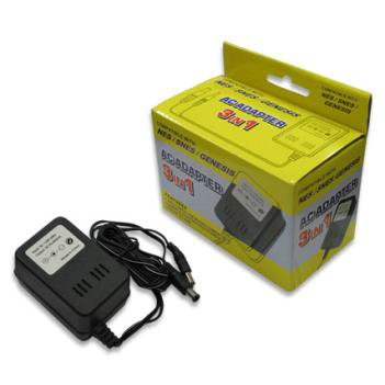New Snes / Nes / Genesis 3-In-1 Universal Ac Adapter High Quality Modern Design Popular Practical front-589960