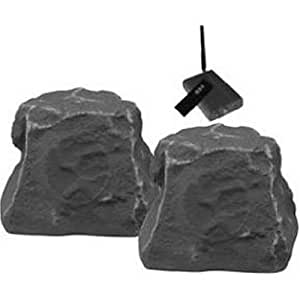 TIC CORPORATION WRS010-SL Outdoor Wireless Rock Speakers (Slate) (Discontinued by Manufacturer)