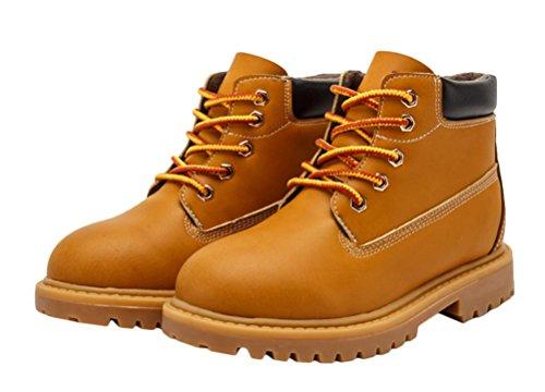 Générique enfants garçon bottines d'hiver unisexe mi-bottes chaud les chaussures cuir en hiver