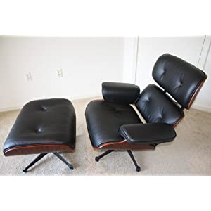 Artis Eames Style Rosewood Lounge Chair And Ottoman