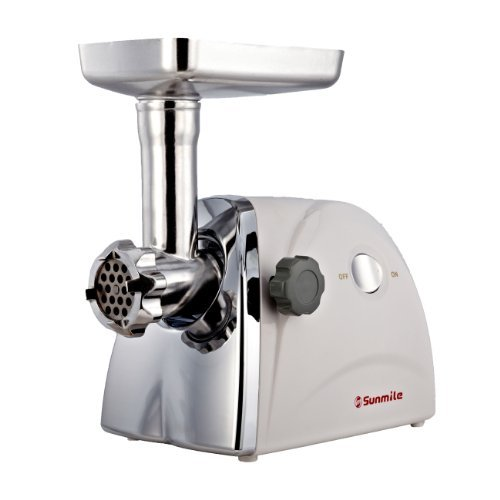Sunmile 1HP 5# UL Electric Meat Grinder W/250W Rated Power 800W Max Power SM-G31, W/Full Set Of Accessories,Stainless Steel Cutting Blade,Stainless Steel Cutting Plates and Sausage Stuffing, UL Certificated and 1-Year Manufacturer Warranty, Garden, Lawn, Maintenance