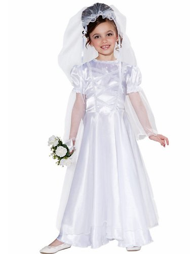 Little Bride Wedding Belle Child Costume Dress and Veil, Medium