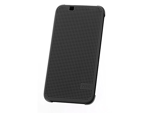 Generic Dot Matrix View Flip Case Cover For HTC Desire 620G 620 Dual Sim - Black