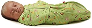 Fisher-Price Swaddlecinch Jungle Print Blanket, Sage, Small