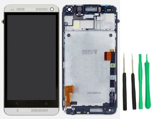 New Cell Phone Replacement Htc One M7 Frame Housing Assembly Lcd Touch Screen