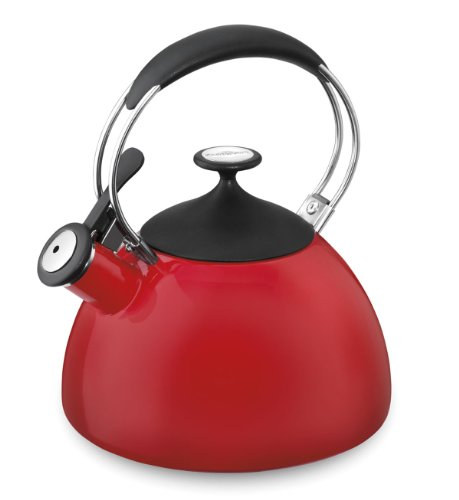 Cuisinart Ctk-Eos12R Cache Porcelain Enamel On Steel Tea Kettle, Red