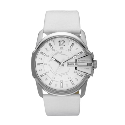 Diesel Herren-Armbanduhr XL Analog Quarz Leder DZ1405