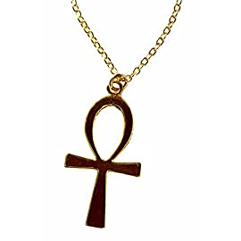 Ankh Gold-dipped Pendant Necklace on 18