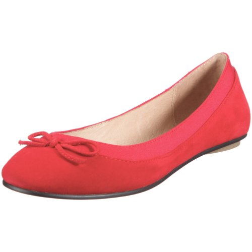 Buffalo London 207-3562 KID SUEDE RED154 116607, Ballerine donna - Rosso, 39 EU