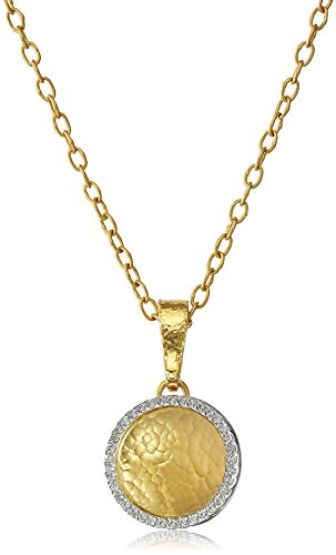 GURHAN-Hourglass-Gold-and-White-Diamond-Frame-Small-Pendant-Necklace-14cttw-H-I-Color-SI2-I1-Clarity