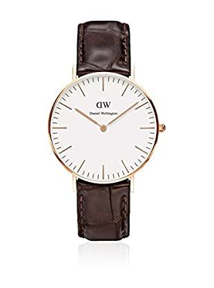 Daniel Wellington Reloj con movimiento cuarzo japonés Woman Classic York blanco/gris 36 mm