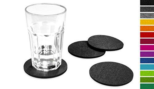 FILU-Filzuntersetzer-rund-8er-Pack-Farbe-whlbar-dunkelgrau-Untersetzer-aus-Filz-fr-Tisch-und-Bar-als-Glasuntersetzer-Getrnkeuntersetzer-fr-Glas-und-Glser-grau