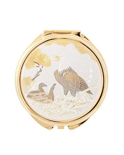 Dynasty Gallery Chokin Art Eagle Pill Box, Gold