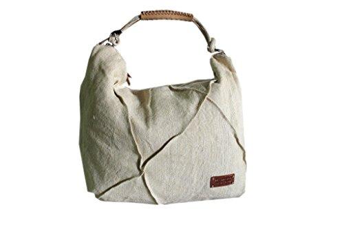 Borsa donna sacca a spalla lk.s.0331 bianco moda italiana