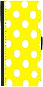 Snoogg Yellow Polka Dot Designer Protective Phone Flip Case Cover For Lenovo Vibe S1