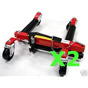 SET of 2 Hydraulic Vehicle Dolly Jack Body Shop Towing for Tire up to 12