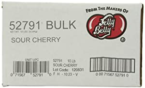 Jelly Belly Sour Cherry Jelly Beans, 10-Pound Bag