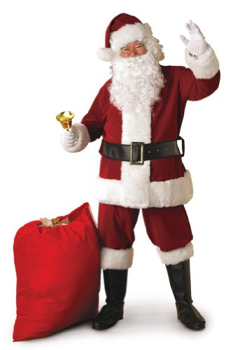 Rubies Costume Adult Mens Crimson Regal Santa Claus Suit | XX-Large